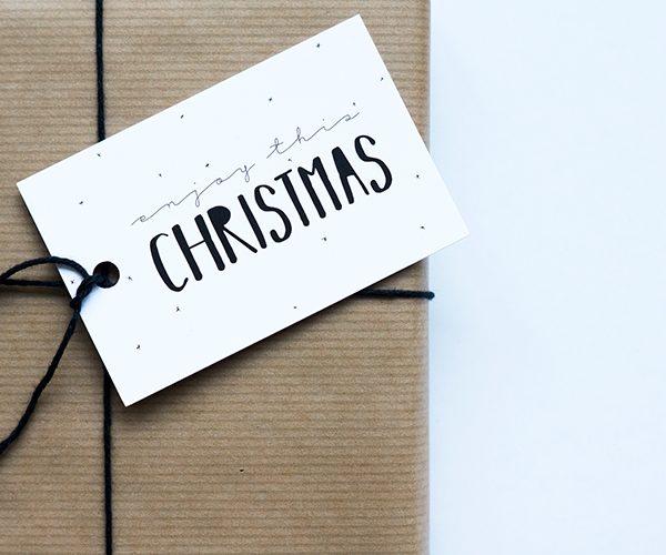 Cadeaulabel kerst - Enjoy this christmas