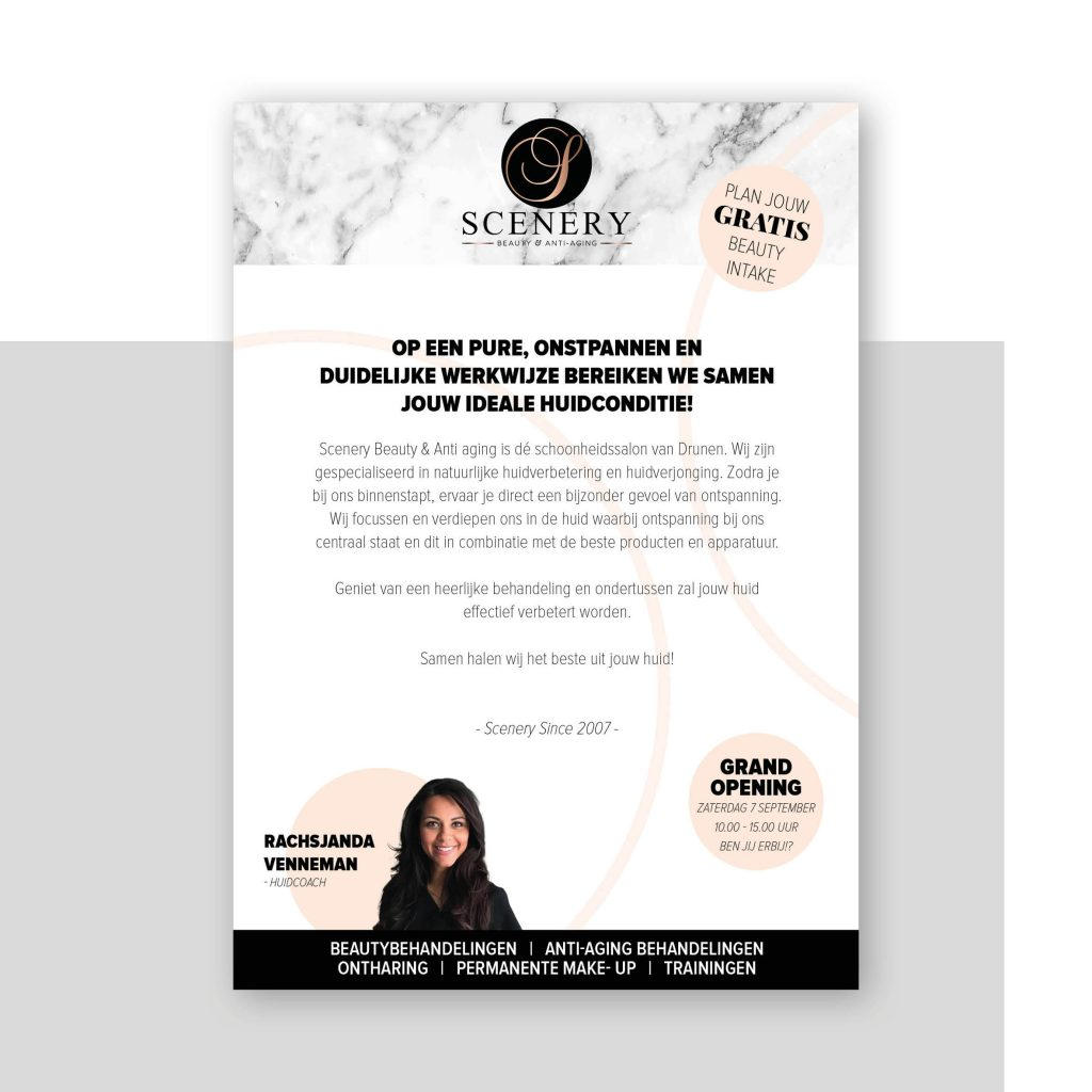 Flyer ontwerp, zakelijk drukwerk