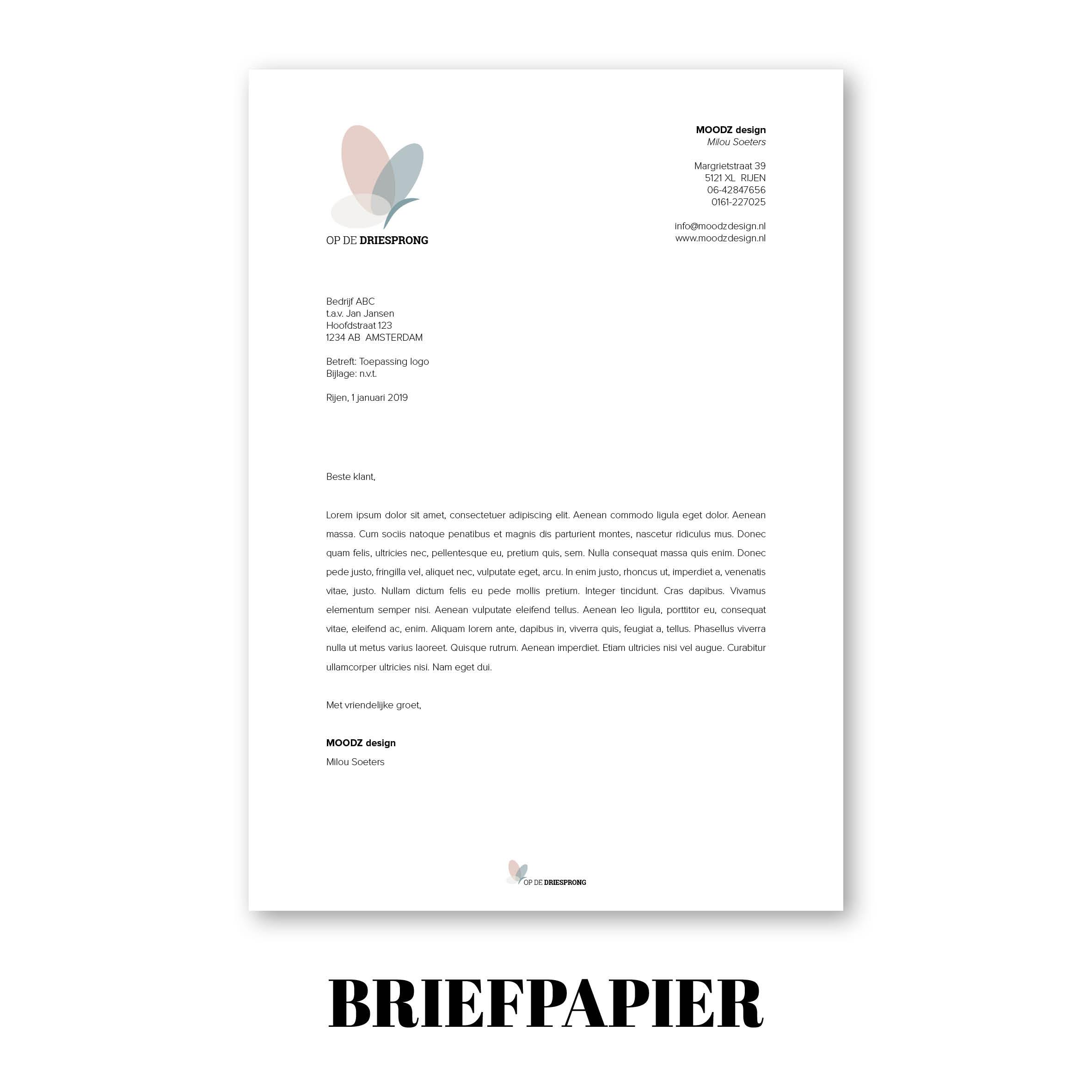 briefpapier ontwerp, briefpapier op maat