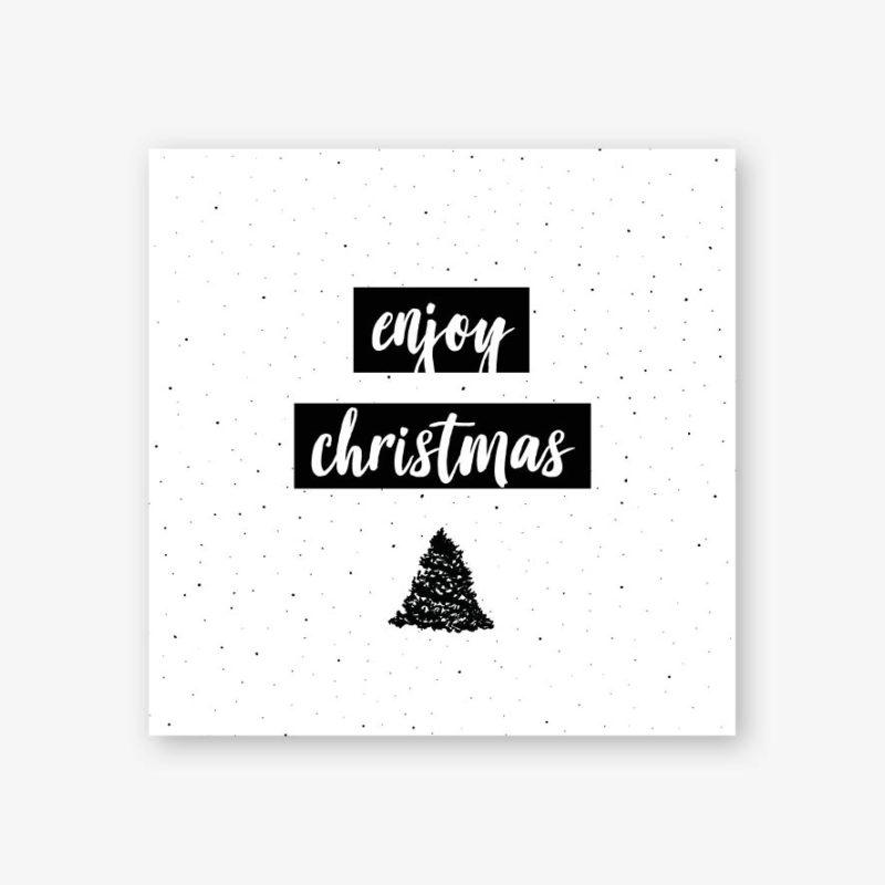 kerstkaart zwart-wit