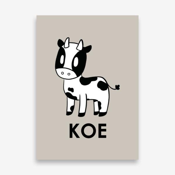 Kinderkamer_poster_koe