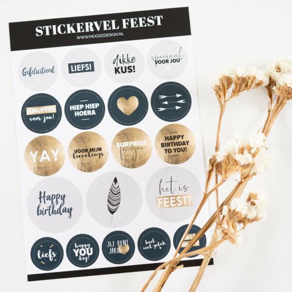 Stickervel_feest