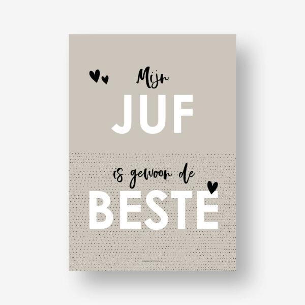 juffen cadeautje - Poster juf